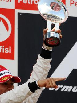 Podium: Lewis Hamilton