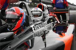 Todd Wallace, news anchor at WRTV Channel 6, prepares to take a two-seater ride