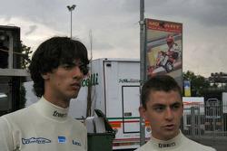 Federico Leo and Matteo Chinosi appear apprehensive