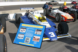 Historic Indycars on display