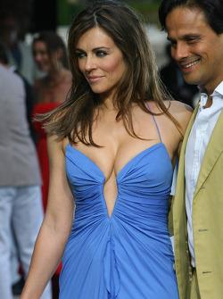 Liz Hurley Actress with her husband Arun Nayar