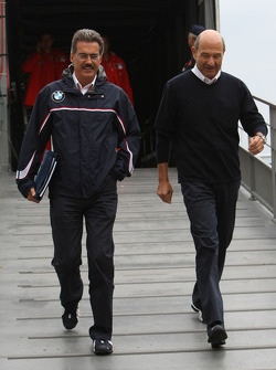 Dr. Mario Theissen, BMW Sauber F1 Team, BMW Motorsport Director and Peter Sauber, BMW Sauber F1 Team, Team Advisor