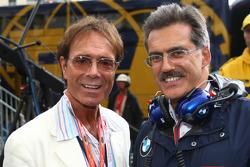 Cliff Richard with Dr. Mario Theissen, BMW Sauber F1 Team, BMW Motorsport Director