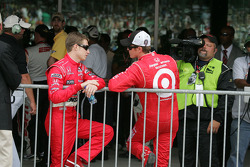 Scott Dixon and Ryan Brisoce share a moment before the race
