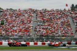 Giancarlo Fisichella, Force India F1 Team, VJM-01 and Sebastian Vettel, Scuderia Toro Rosso, STR02
