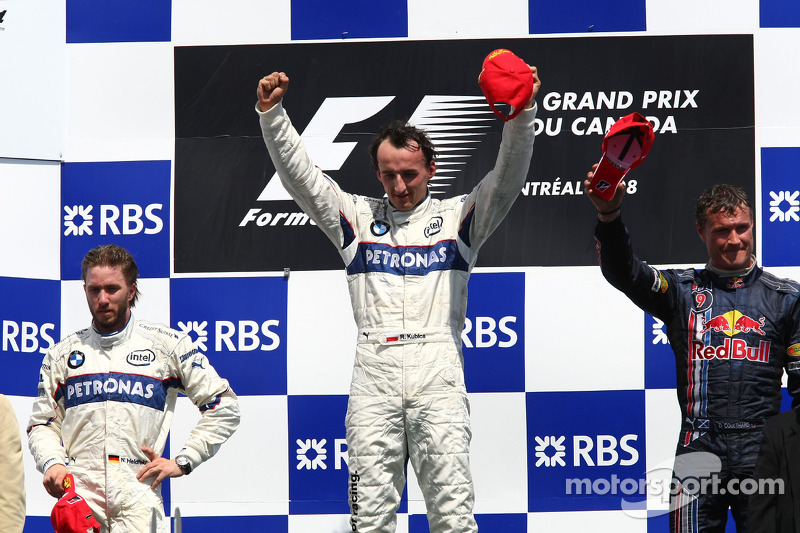 2008 - 1. Robert Kubica, 2. Nick Heidfeld, 3. David Coulthard