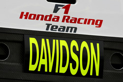 Anthony Davidson, Testing For Honda Racing F1 Team
