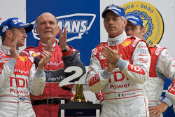 LM P1 podium: class and overall winners Tom Kristensen, Rinaldo Capello, Allan McNish with Dr. Wolfgang Ullrich