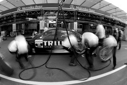 Mücke Motorsport AMG Mercedes team members practice pit stops