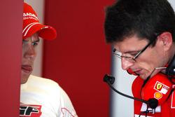 Kimi Raikkonen, Scuderia Ferrari, Chris Dyer, Scuderia Ferrari, Track Engineer of Kimi Raikkonen- Formula 1 Testing, Silverstone