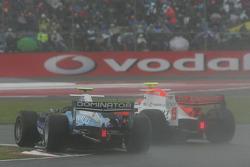 Pastor Maldonado passes Marko Asmer