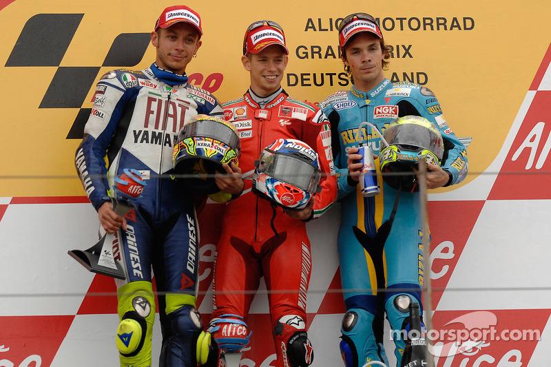 2008. 1 Casey Stoner. 2 Valentino Rossi. 3 Chris Vermeulen