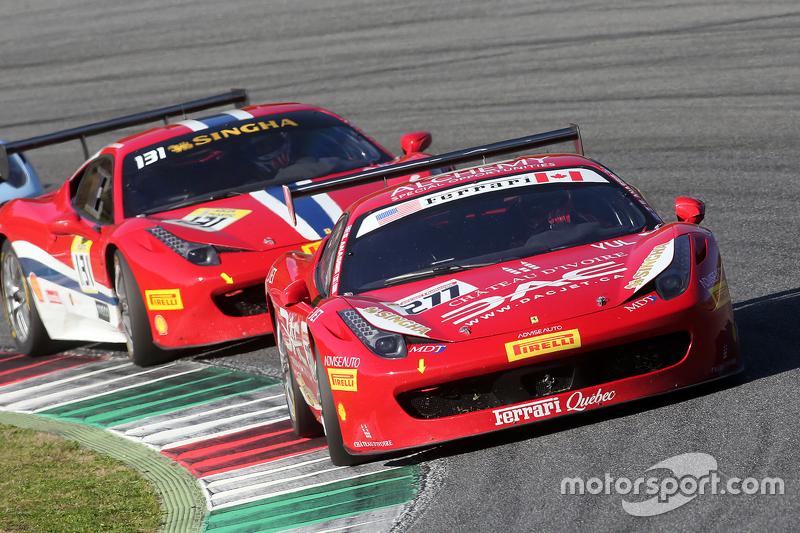 #277 Ferrari of Quebec Ferrari 458: Emmanuel Anassis, vor #131 AF Corse Ferrari 458: Kriton Lendoudi