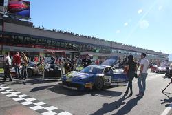 #84 Octane 126 Ferrari 458: Bjorn Grossmann e #55 Scuderia Autoropa Ferrari 458: Babalus sulla griglia di partenza