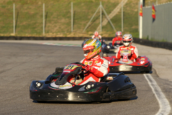 Gara sui go kart dei piloti Ferrari