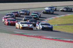 Track action during the formation lap
