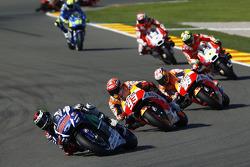 Jorge Lorenzo, Yamaha Factory Racing, Marc Marquez en Dani Pedrosa, Repsol Honda Team