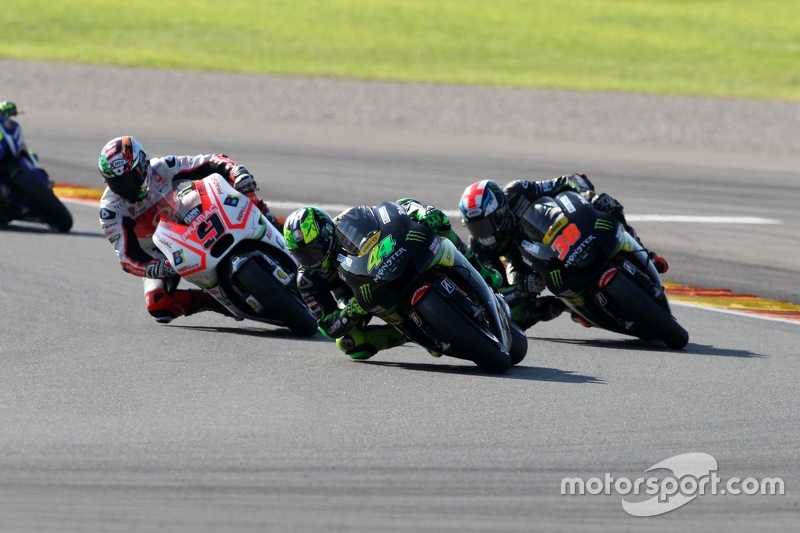 Pol Espargaro and Bradley Smith, Tech 3 Yamahas and Danilo Petrucci, Pramac Racing Ducati