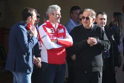 Maurizio Arrivabene, Team Principal Scuderia Ferrari con Sergio Marchionne, Presidente Ferrari e CEO Fiat Chrysler Automobiles