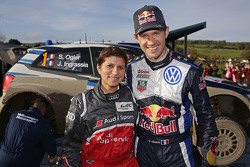 Себастьен Ожье, Volkswagen Motorsport и Лина Гэд, гоночный инженер Audi Sport Team Joest