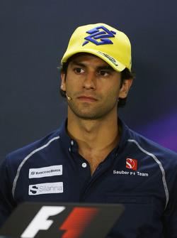 Felipe Nasr, Sauber F1 Team en la conferencia de la FIA