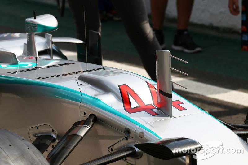 Mercedes AMG F1 W06 burnunda yer alan duct detayı