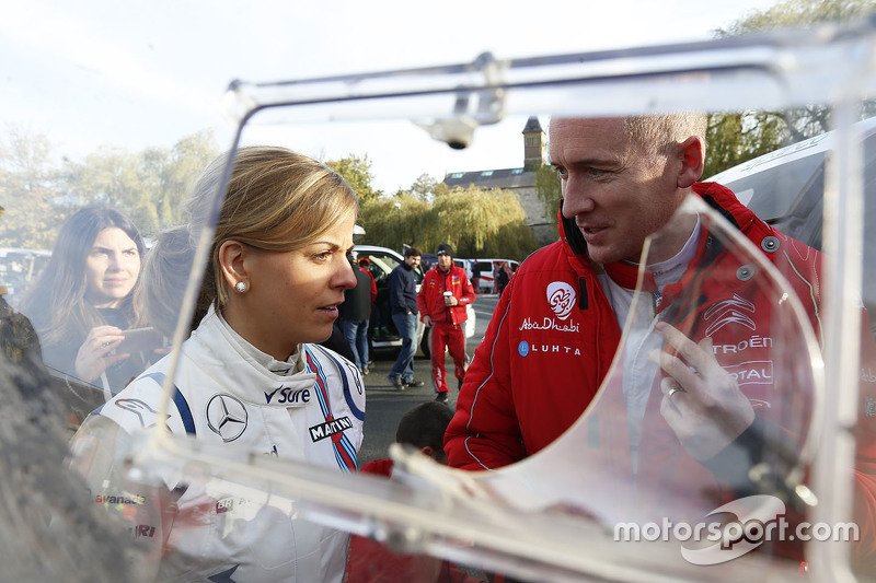 Susie Wolff con Paul Nagle, Citroën World Rally Team
