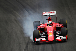 Sebastian Vettel, Ferrari SF15-T va al bloccaggio in frenata