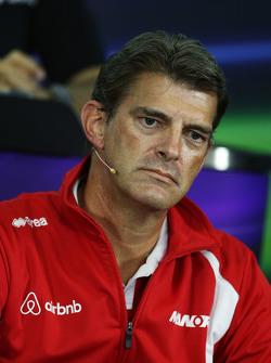 Graeme Lowdon, Manor Marussia F1 Team Chief Executive Officer in the FIA Press Conference