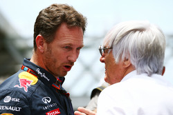 Christian Horner, Red Bull Racing teambaas Bernie Ecclestone