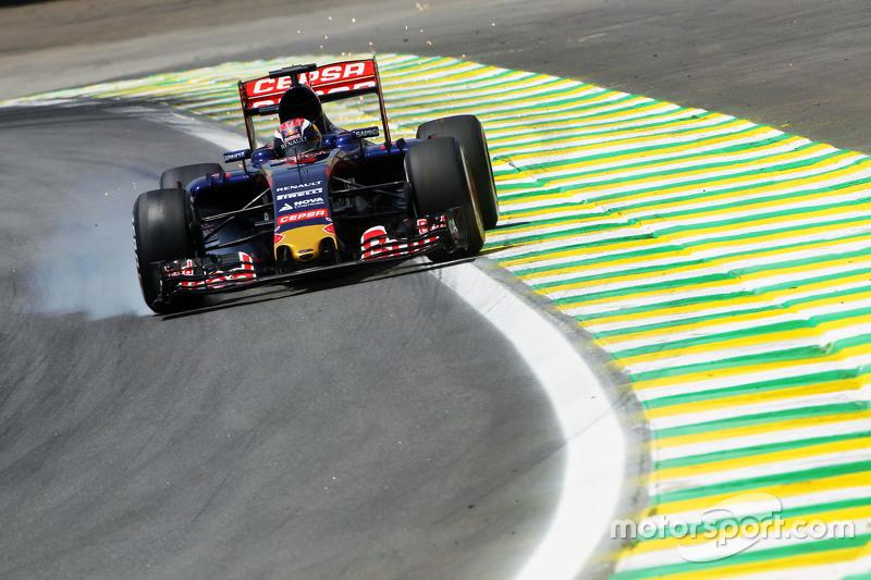 Макс Ферстаппен, Scuderia Toro Rosso STR10 блокує колеса на гальмуванні