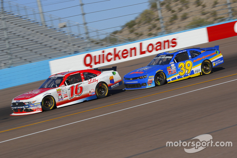 Ryan Reed, Roush Fenway Racing Ford and Ryan Sieg, RSS Racing Chevrolet