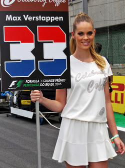 Grid girl voor Max Verstappen, Scuderia Toro Rosso