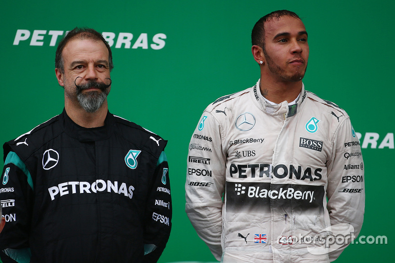 James Waddell, Mercedes AMG F1 with Lewis Hamilton, Mercedes AMG F1