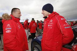 Yves Matton, Citroën Racing Team Principal with Stéphane Lefebvre, Citroën World Rally Team