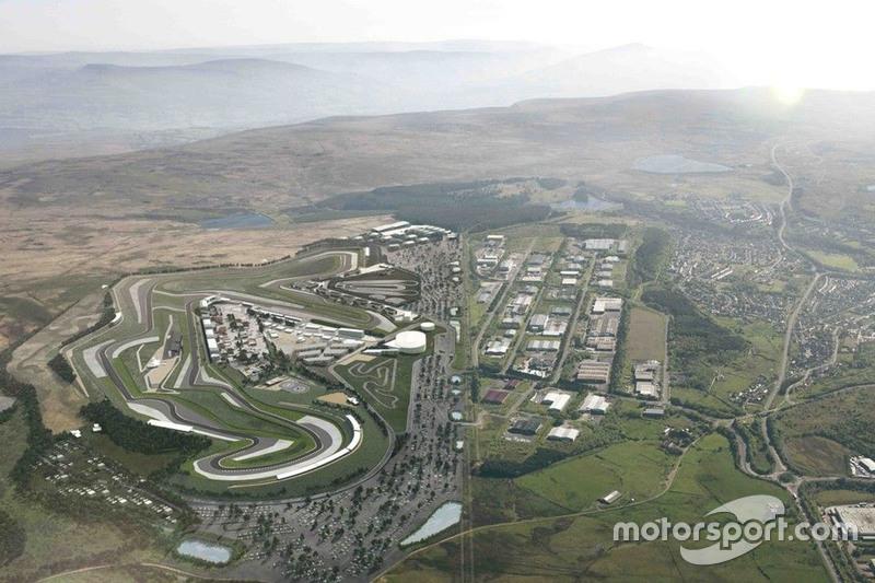 Blick von oben auf den Circuit of Wales