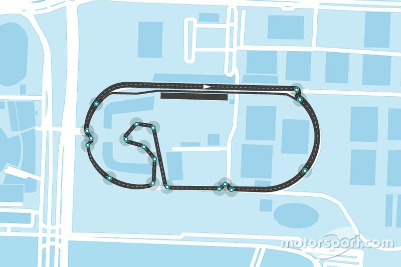 Streckenlayout der Formel E in Mexiko-Stadt