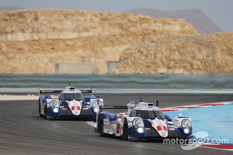 #1 Toyota Racing, Toyota TS040 Hybrid: Sébastien Buemi, Anthony Davidson, Kazuki Nakajima; #2 Toyota