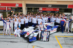 Alexander Wurz, Toyota Racing and the team celebrate his career