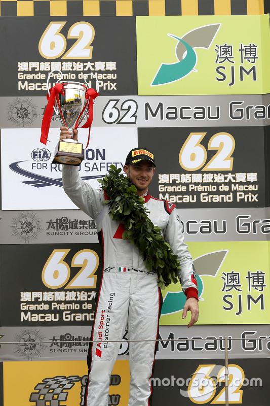 Podium: derde plaats Edoardo Mortara, Audi Sport Team Phoenix
