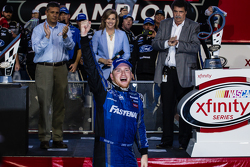 Championship victory lane: NASCAR XFINITY Series 2015 champion Chris Buescher, Roush Fenway Racing Ford celebratres
