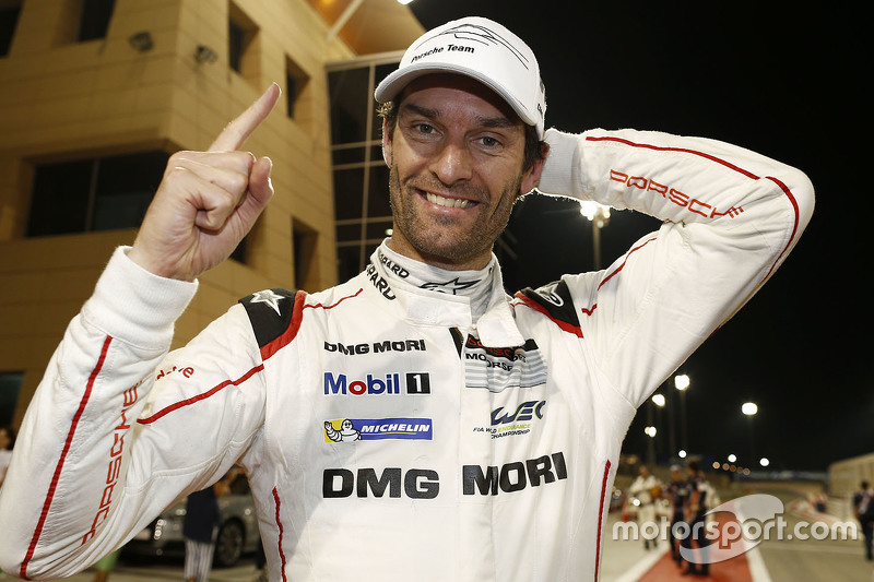 Mark Webber fête son titre 2015