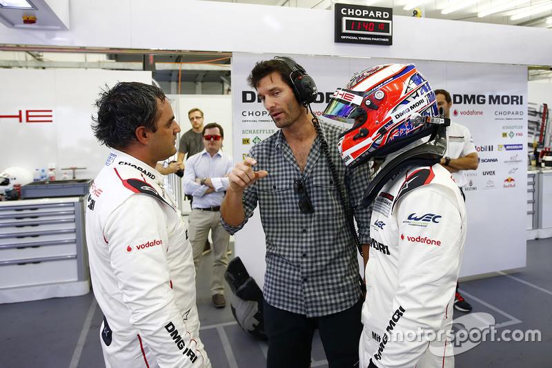 Mitch Evans, Mark Webber und Juan Pablo Montoya, Porsche Team