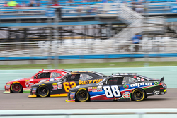Ben Rhodes, JR Motorsports Chevrolet and Brendan Gaughan, Richard Childress Racing Chevrolet and Ross Chastain, JD Motorsports Chevrolet