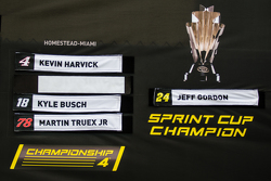 The Chase Grid board on display in the fan zone: fans put Jeff Gordon, Hendrick Motorsports Chevrolet name as champion