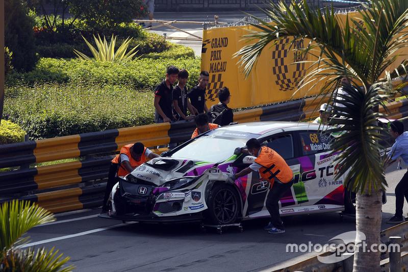 Unfall von Michael Choi, SEAT Leon, Prince Racing Hong Kong