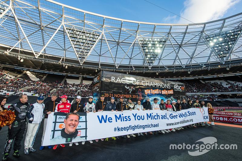 Un mensaje para Michael Schumacher de los pilotos