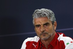 Maurizio Arrivabene, Ferrari Team Principal in the FIA Press Conference