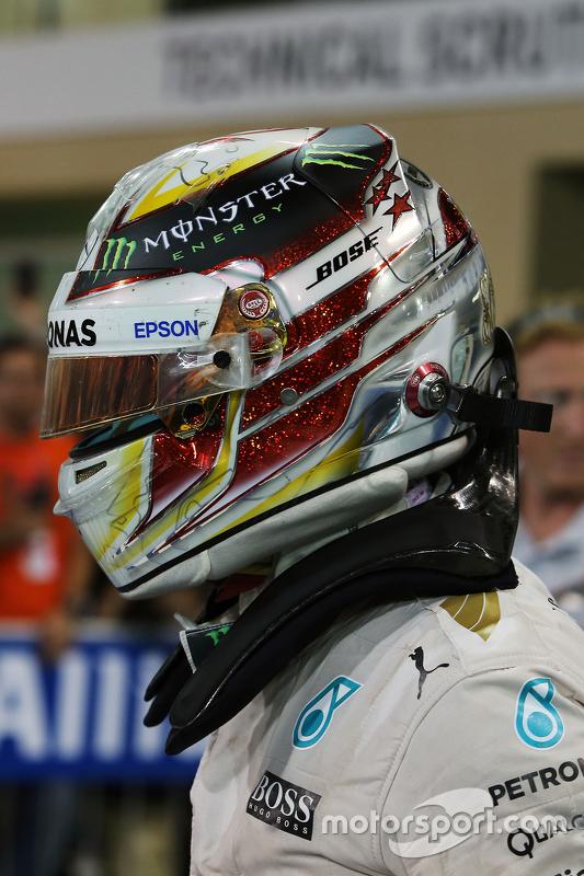 Tweede Lewis Hamilton, Mercedes AMG F1 W06 in parc fermé