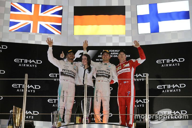 Le podium du GP d'Abu Dhabi